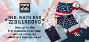 RED WHITE BILLABONG